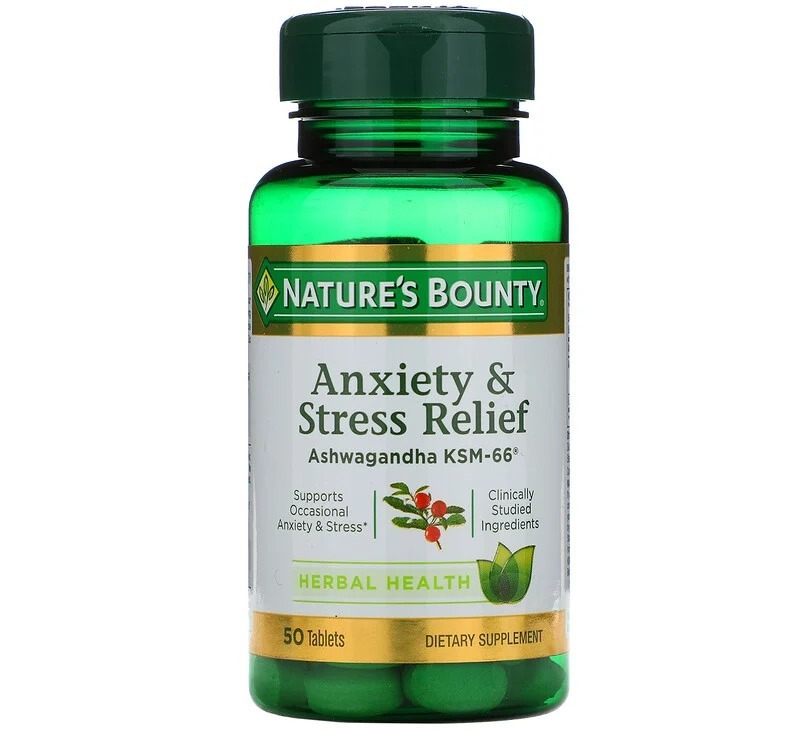 natures bounty anxiety and stress relief